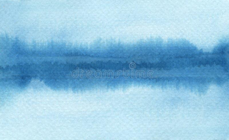 Les courses abstraites de brosse d'aquarelle ont peint le fond PA de texture illustration de vecteur