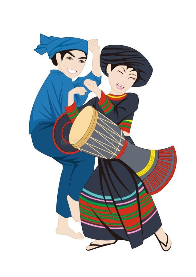 Les coutumes de costumes et de gens du ressortissant chinois illustration stock