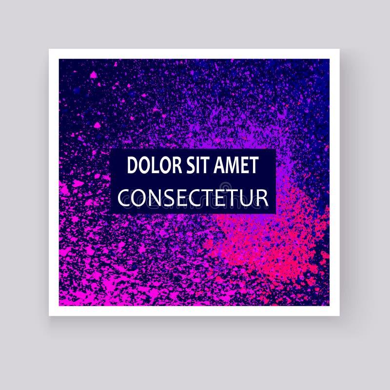 Les couvertures artistiques d'explosion d'éclaboussure colorée au néon de peinture conçoivent d illustration stock