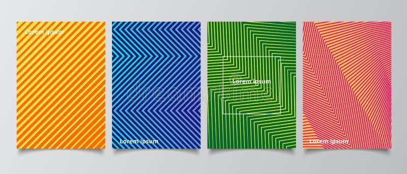 Les couvertures minimales de calibre conçoivent le backgro abstrait de gradient de modèle illustration de vecteur