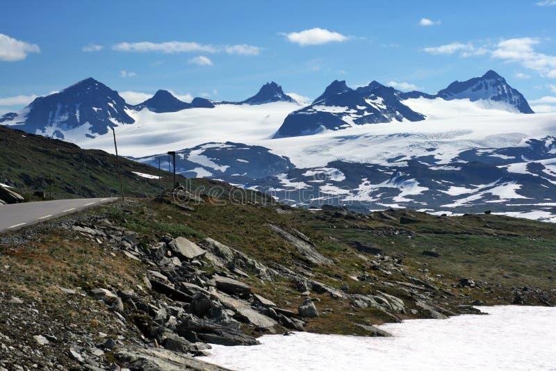 Les crêtes les plus élevées de la Norvège photo stock
