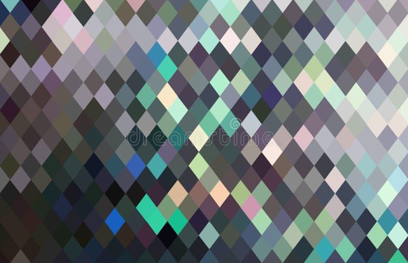 Les cristaux miroitent le modèle abstrait vert gris illustration stock