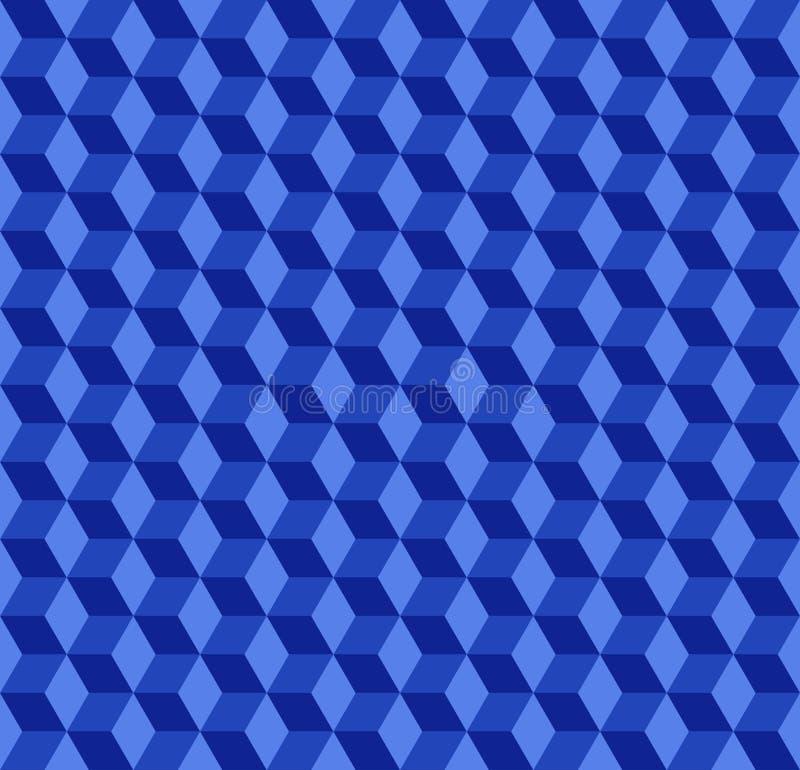 Les cubes bleus modèlent le fond illustration de vecteur