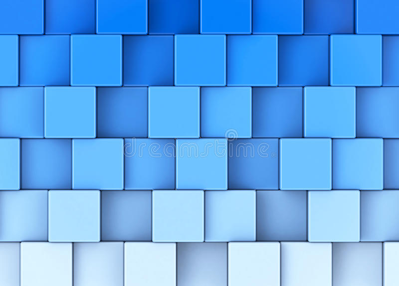 Les cubes en bleu illustration stock