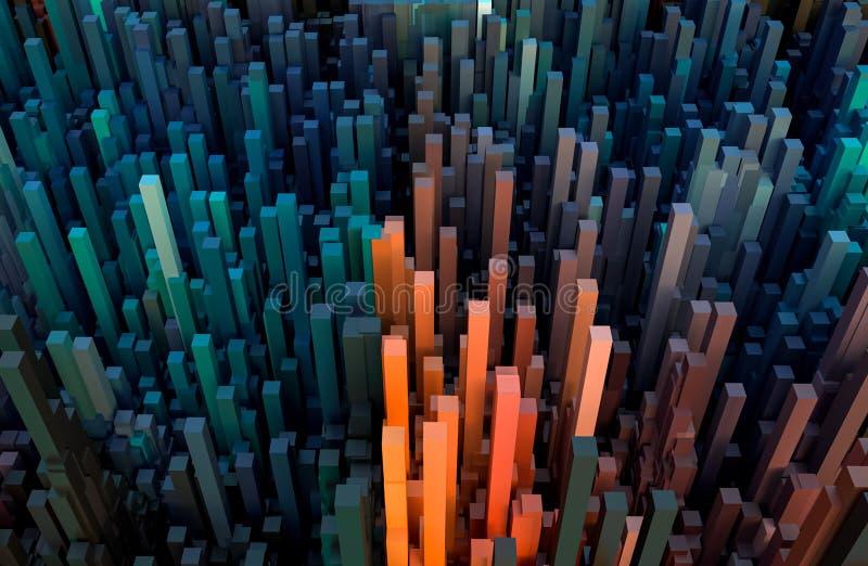 Les cubo?des abstraits color?s am?nagent le papier peint en parc ou les milieux ou le contexte illustration libre de droits
