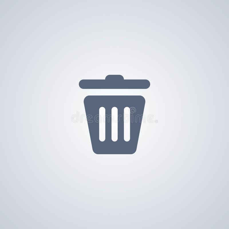 Les déchets, panier, dirigent la meilleure icône plate illustration de vecteur