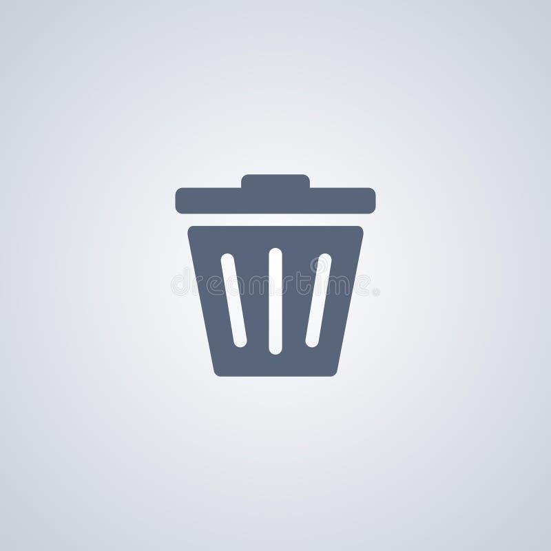 Les déchets, suppression, dirigent la meilleure icône plate illustration de vecteur