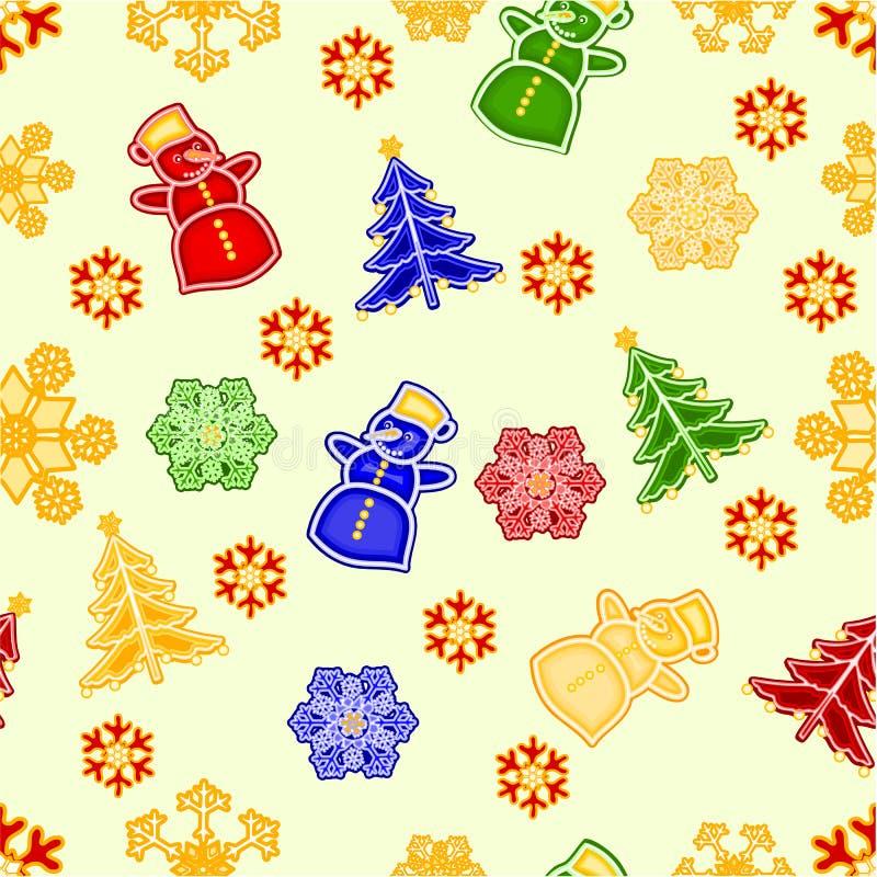 Download Les Décorations Sans Couture De Noël De Bonhomme De Neige Et De Flocon De Neige De Texture Dirigent L'illustration Illustration de Vecteur - Illustration du célébration, peinture: 45371928