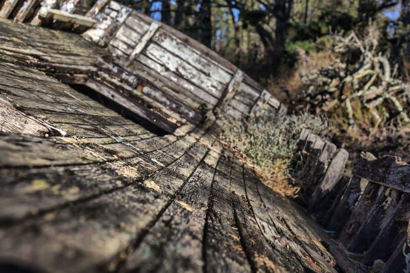 Les détails abstraits d'une vieille pêche abandonnée se transportent dans Concuet, Br photo stock