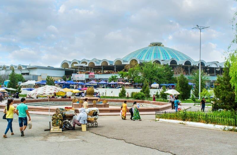Les dômes marchands de Tashkent photo stock