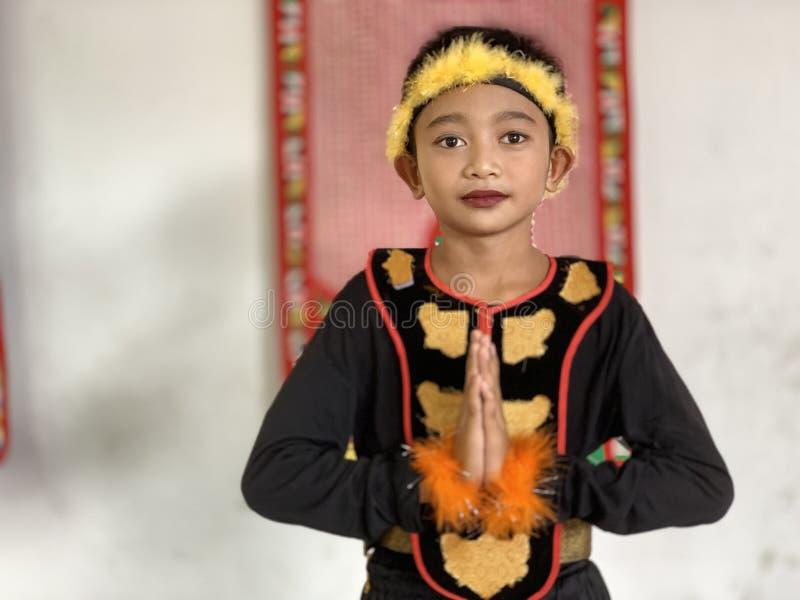 Les danseurs de Bajau image stock