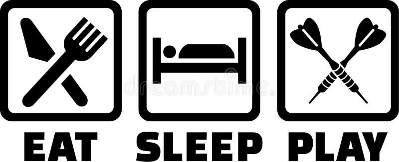 Les dards mangent le jeu de sommeil illustration stock