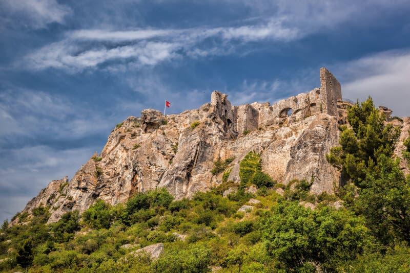 Les de baux-DE-Provence, kasteel in de Provence, Frankrijk royalty-vrije stock afbeelding