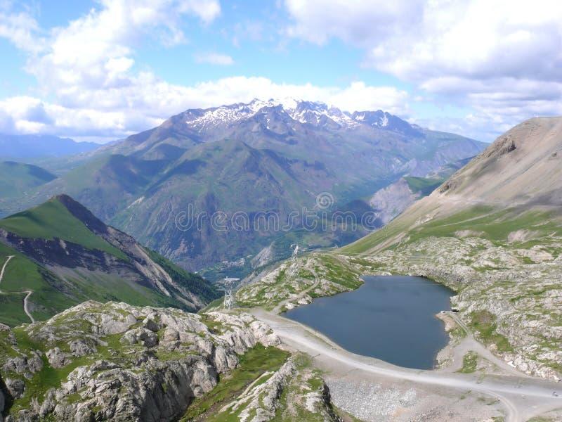Les De Deux D Alpes Photographie stock libre de droits