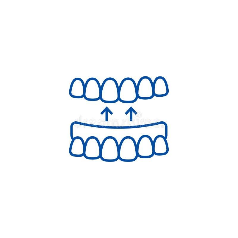 Les dents implantées rayent le concept d'icône Symbole plat implanté de vecteur de dents, signe, illustration d'ensemble illustration de vecteur