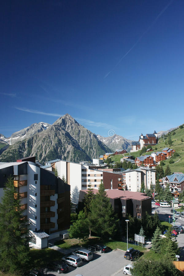 Les Deux Alpes royalty free stock images