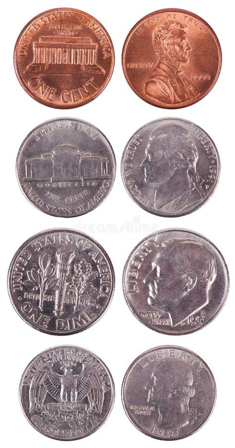 Pièces de monnaie américaines - bandeau image libre de droits