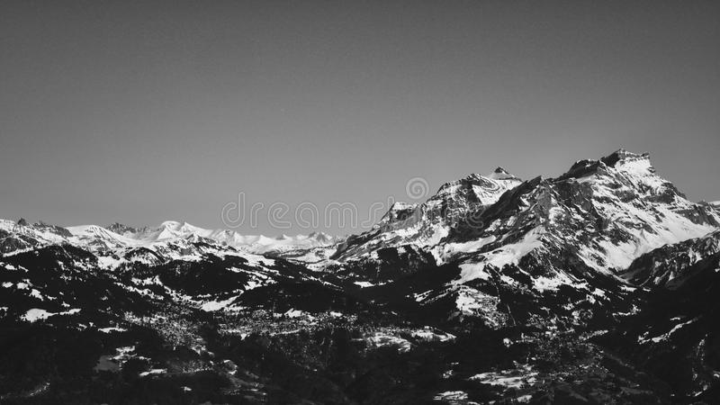 Les Diablerets Mountain Swiss stock photo