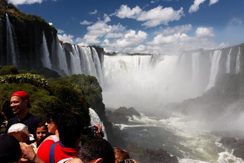 les diables de l'Argentine Brésil font la gorge d'iguassu de foz photo stock