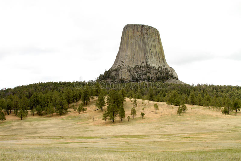 Les diables dominent au Wyoming photographie stock