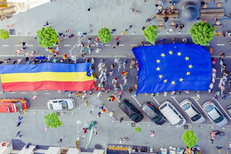 Les Diaspora protestent ? Bucarest contre le gouvernement photos libres de droits