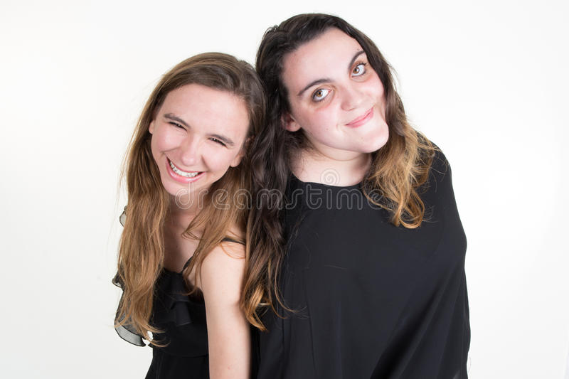 Les différentes adolescentes de jeunes, les femmes caucasiennes amincissent et graisse photos libres de droits