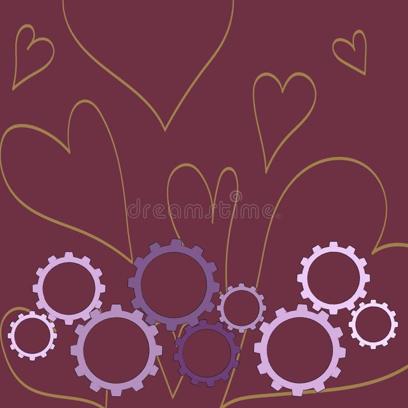 Les différentes tailles de la roue de dent de couleur embrayent s'engager, verrouillage, Tesselating Idée créative de fond pour i illustration de vecteur