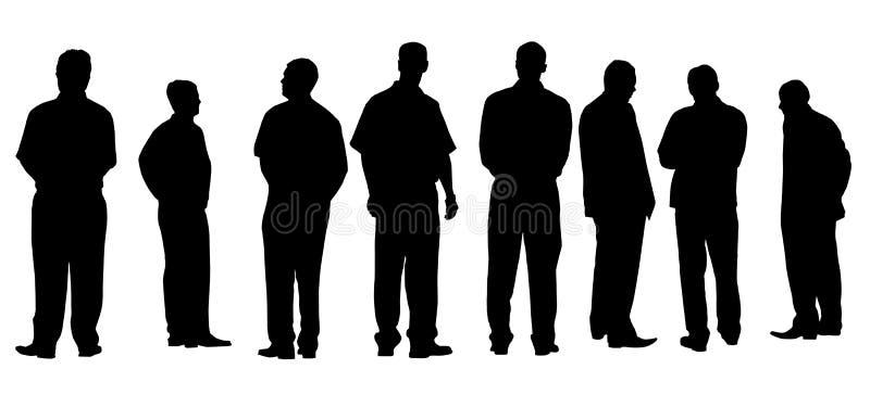 Les différents hommes d'affaires ont isolé illustration libre de droits