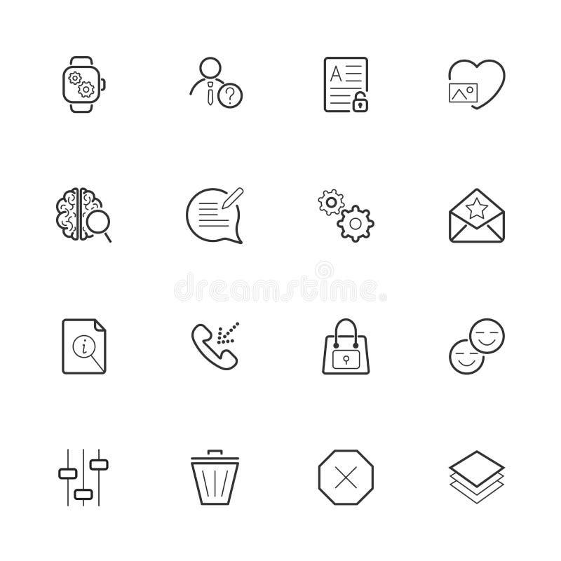 Les diff?rentes ic?nes emballent pour le webdesign ou la conception mobile illustration de vecteur