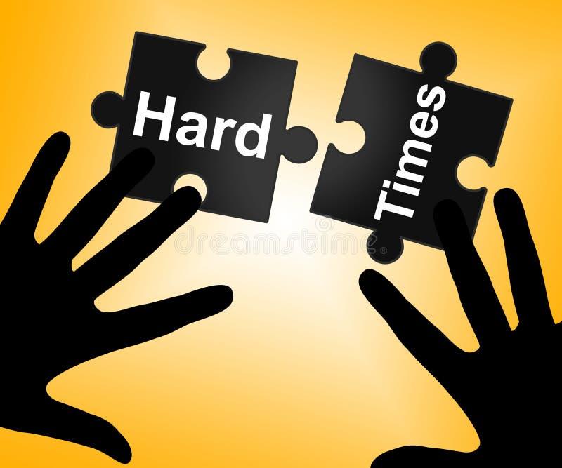Les difficultés indique des obstacles et le défi surmontés illustration de vecteur