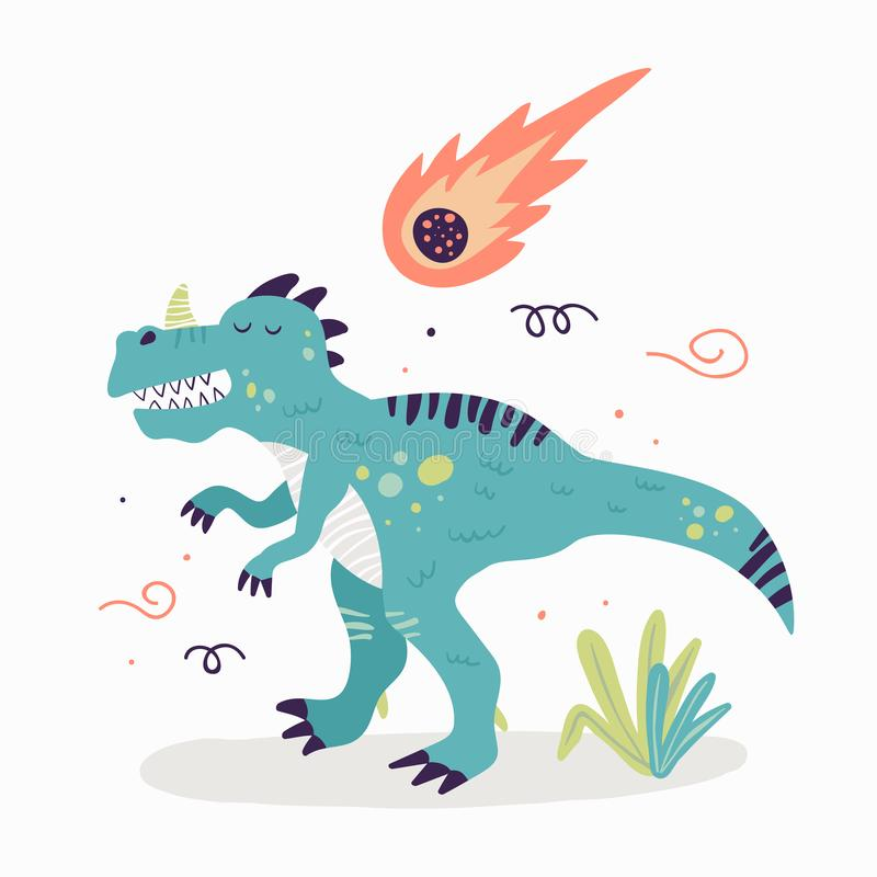 Les dinosaures-handdraw copient illustration stock