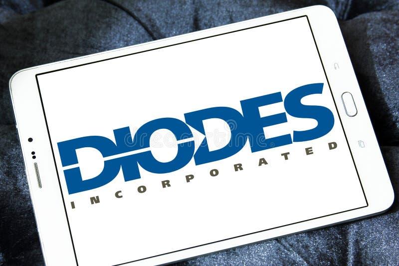 Les diodes ont incorporé le logo image libre de droits