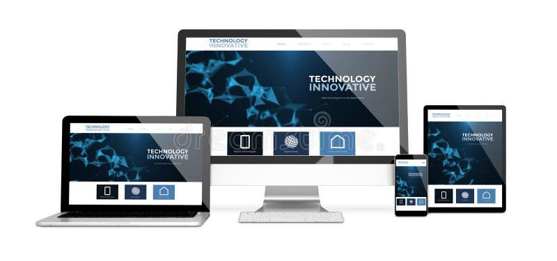 les dispositifs ont isolé le site Web innovateur illustration stock