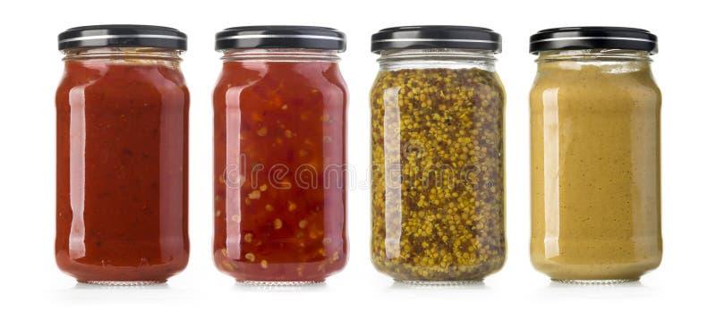 Les diverses sauces barbecue photographie stock libre de droits