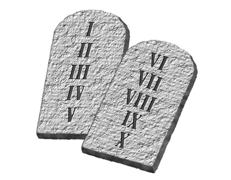 Les Dix commandements illustration libre de droits
