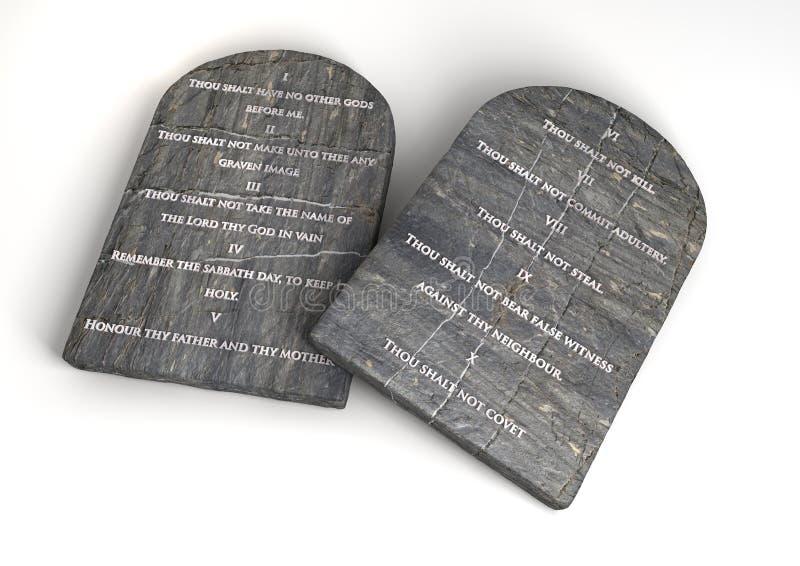 Les Dix commandements illustration de vecteur