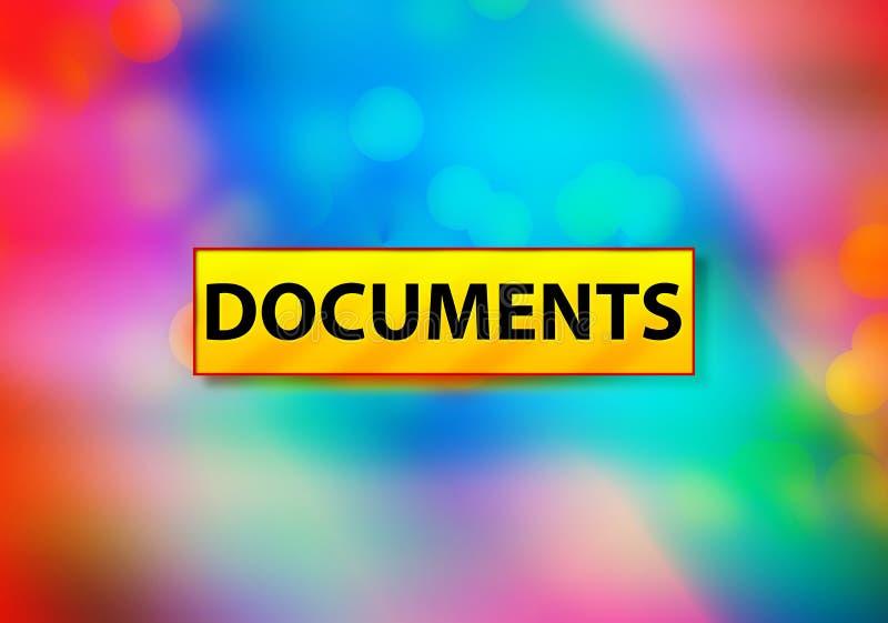 Les documents soustraient l'illustration colorée de conception de Bokeh de fond illustration de vecteur