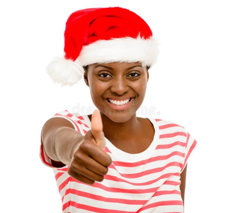 Les doigts mignons de fille d'Afro-américain manie maladroitement vers le haut du signe portant le Christ photo stock