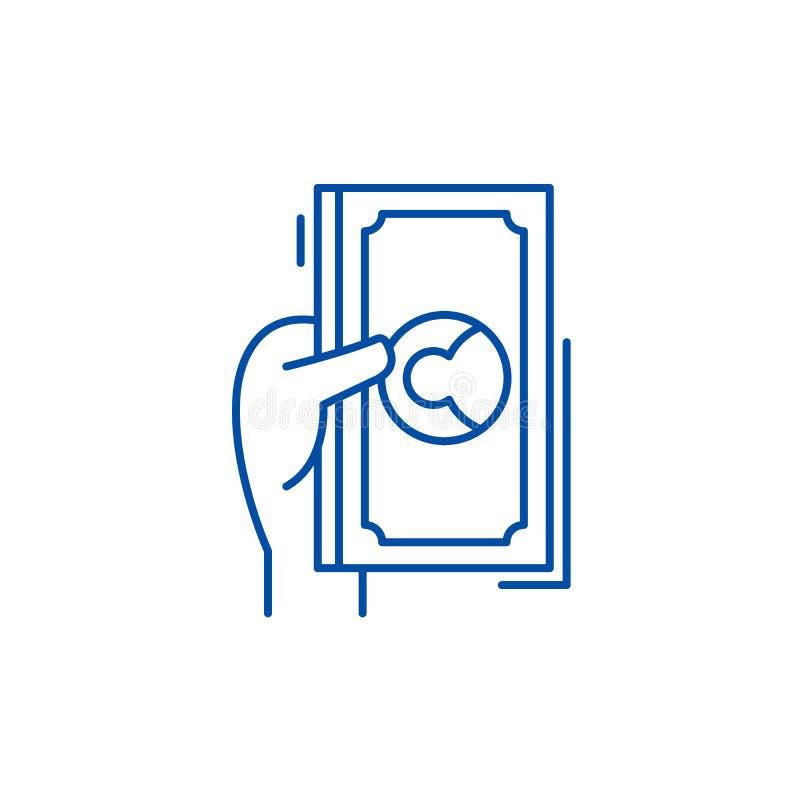 Les dollars et les cents rayent le concept d'icône Les dollars et les cents dirigent à plat le symbole, signe, illustration d'ens illustration stock