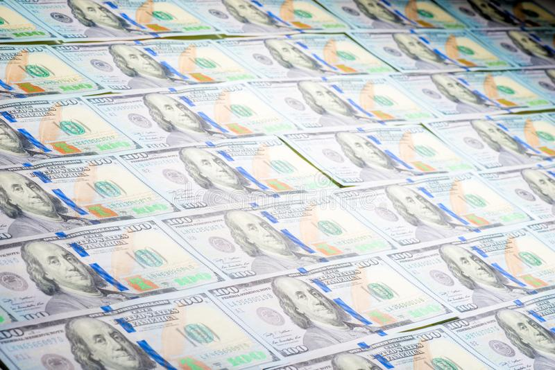Les dollars ont présenté le plan rapproché de papier peint image stock