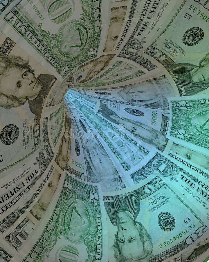 Les dollars percent un tunnel illustration de vecteur