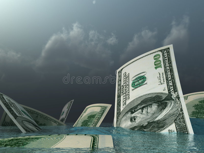 les dollars vont dessous images stock