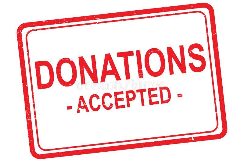 Les donations ont accepté le timbre illustration de vecteur