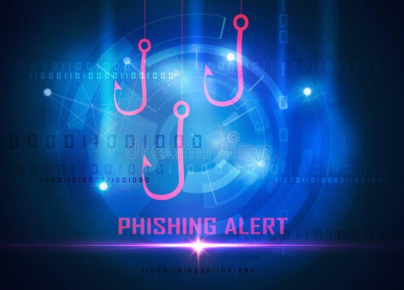 Les données d'ordinateur de Phishing volent illustration libre de droits