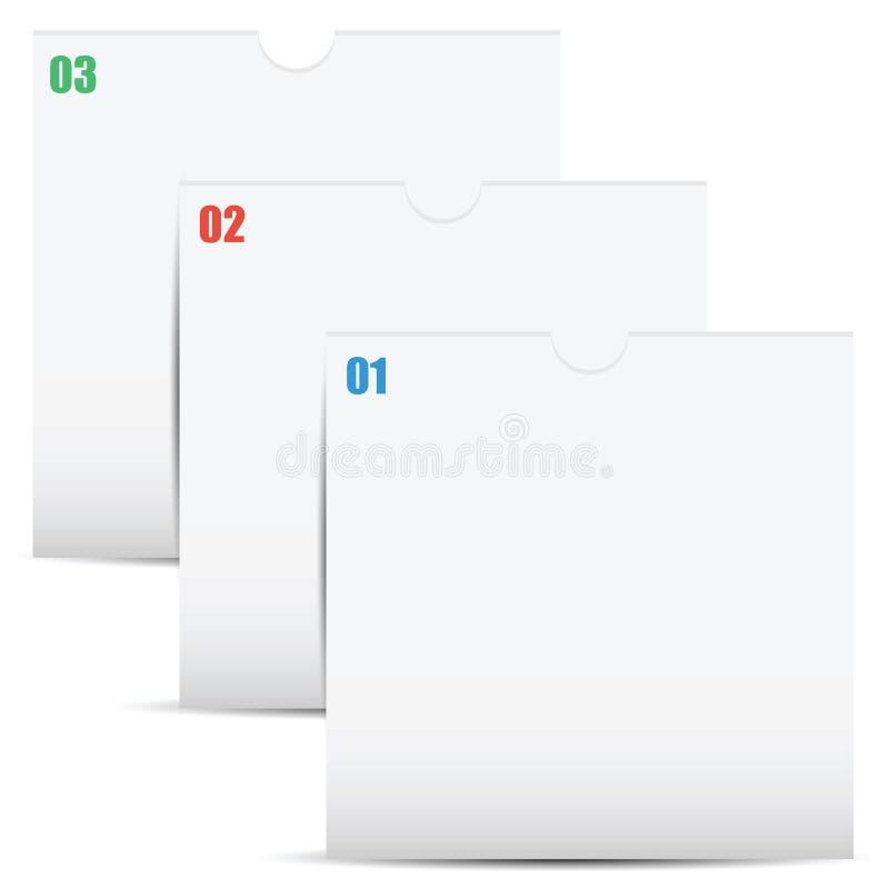 Les dossiers numérotés pour des documents illustration de vecteur