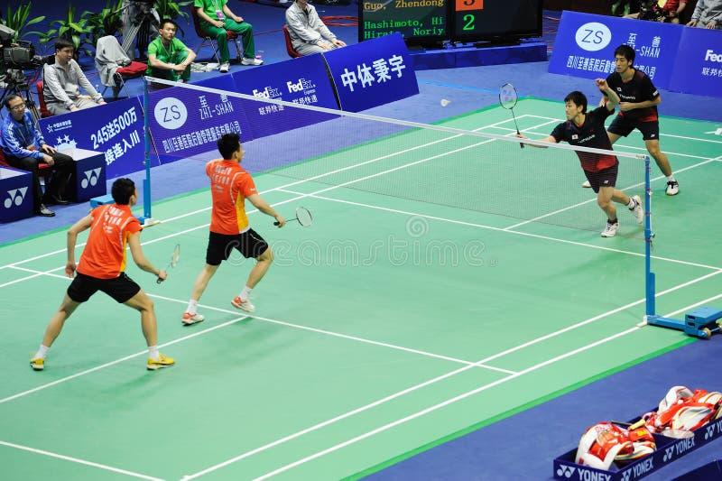 Les doubles des hommes, championnats 2011 de l'Asie de badminton photo libre de droits