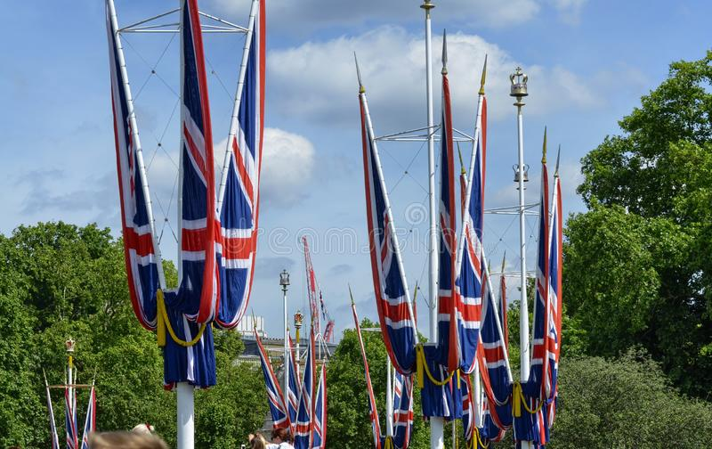 Les drapeaux du Royaume-Uni photos stock