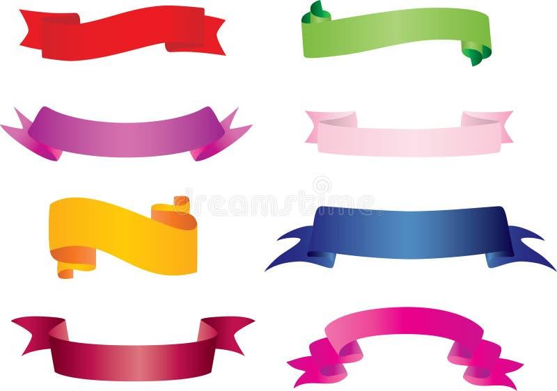 Les drapeaux ont placé illustration de vecteur