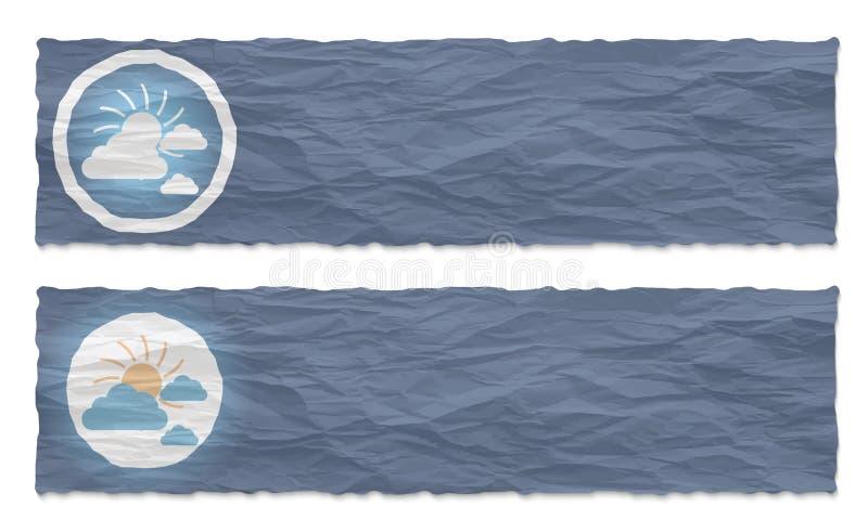 les drapeaux ont placé deux illustration stock