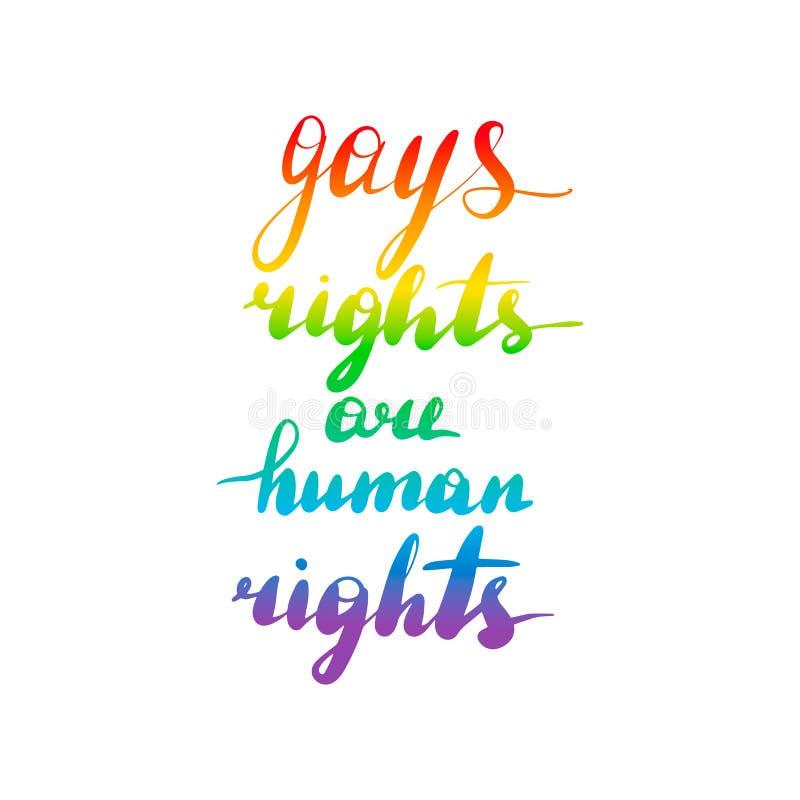 Les droits d'homosexuels sont des droits de l'homme illustration de vecteur